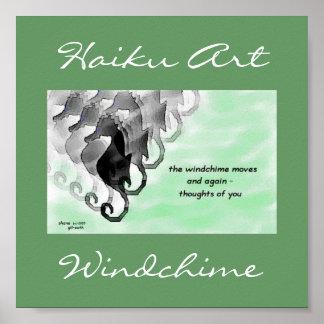 Impresión del arte del Haiku de Windchime Póster