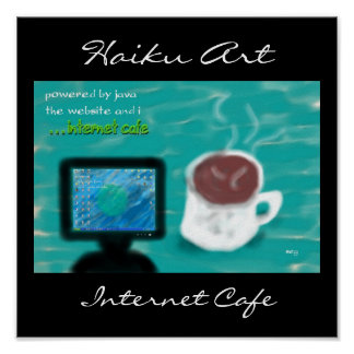 Impresión del arte del Haiku del café de Internet
