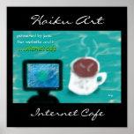 Impresión del arte del Haiku del café de Internet Poster