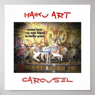 Impresión del arte del Haiku del carrusel Póster