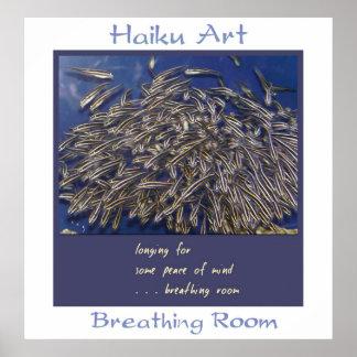 Impresión del arte del Haiku del espacio para resp Impresiones