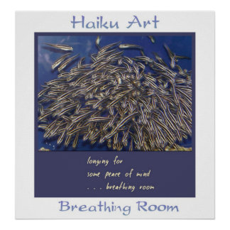 Impresión del arte del Haiku del espacio para resp Póster