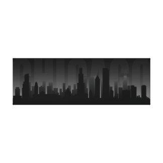 Impresión del arte del horizonte de Chicago Impresión De Lienzo