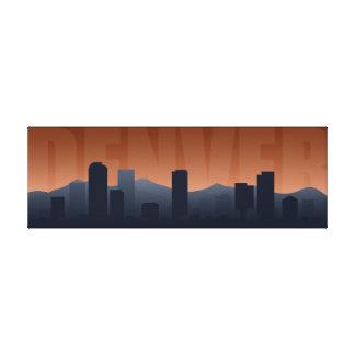 Impresión del arte del horizonte de Denver Impresión En Lienzo Estirada