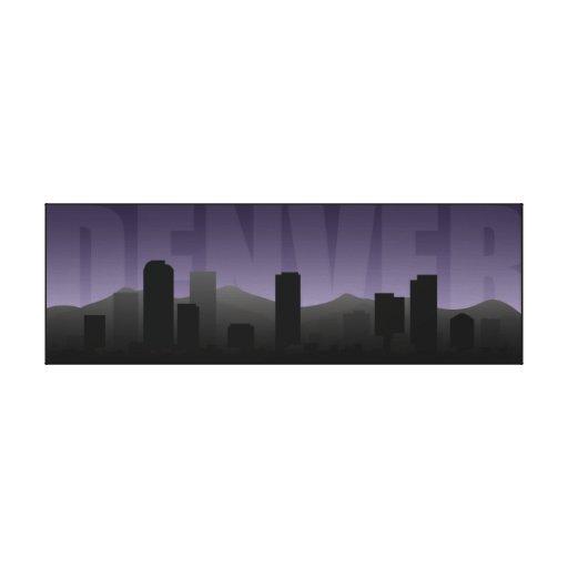 Impresión del arte del horizonte de Denver Impresiones De Lienzo