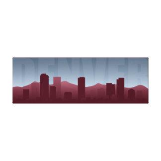 Impresión del arte del horizonte de Denver Lona Estirada Galerías