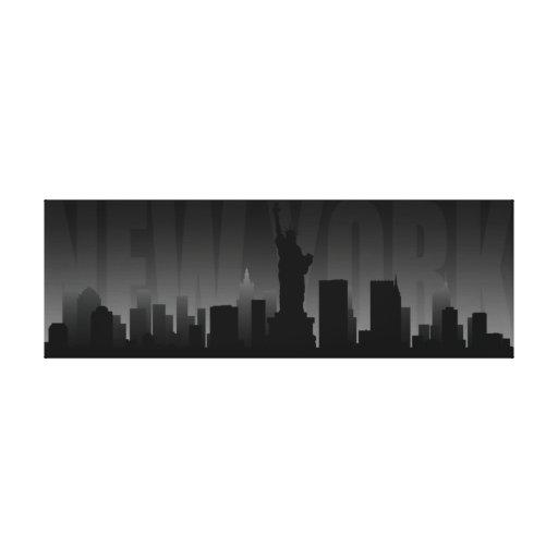 Impresión del arte del horizonte de Nueva York Lona Envuelta Para Galerias
