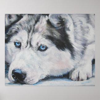 impresión del arte del husky siberiano póster