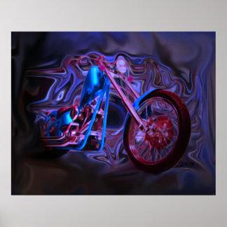 Impresión del arte del jinete de noche póster