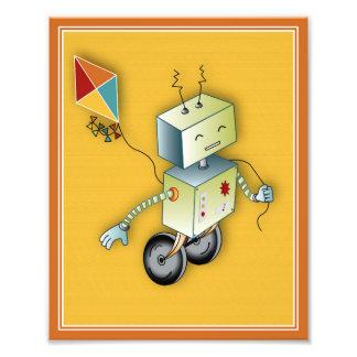 Impresión del arte del juego de los robots - robot foto