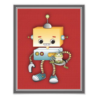 Impresión del arte del juego de los robots - robot arte fotografico