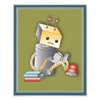 Impresión del arte del juego de los robots - robot fotografías