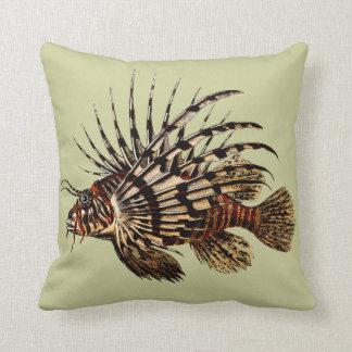 Impresión del arte del Lionfish del vintage Cojines