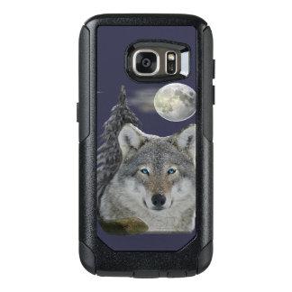 Impresión del arte del lobo funda otterbox para samsung galaxy s7