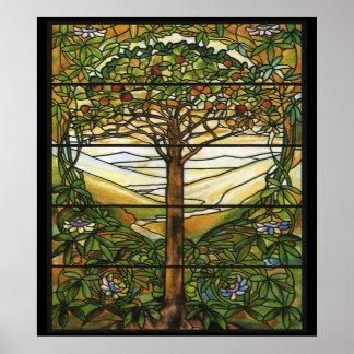Impresión del arte del manzano del modelo del vitr impresiones