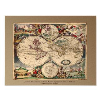 Impresión del arte del mapa de Viejo Mundo Impresiones Fotograficas
