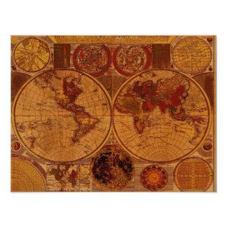Impresión del arte del mapa de Viejo Mundo Impresión Fotográfica