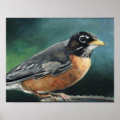 Impresión del arte del pájaro del petirrojo impresiones