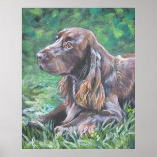 impresión del arte del perro de aguas de campo poster