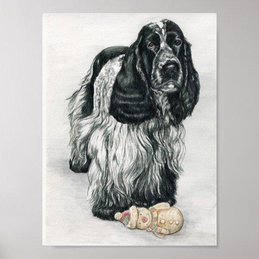 Impresión del arte del perro de cocker spaniel del póster