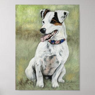 Impresión del arte del perro de Jack Russell Terri Impresiones