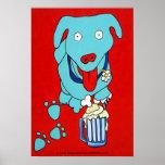 """""""Impresión del arte del perro del FLOTADOR de CERV Posters"""