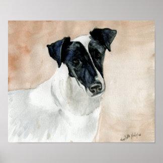 """Impresión del arte del perro del """"fox terrier liso póster"""