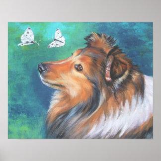 impresión del arte del perro pastor de Shetland de Posters