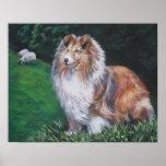 Impresión del arte del perro pastor de Shetland Posters