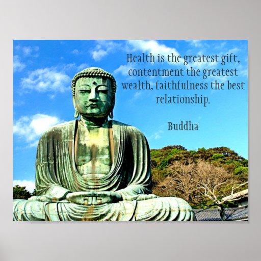 Impresión del arte del poster de la cita de Buda