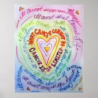 Impresión del arte del poster del corazón del cánc
