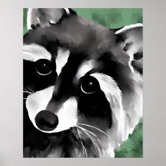 Impresión del arte del poster del mapache