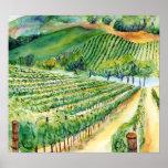 Impresión del arte del poster del viñedo del lagar