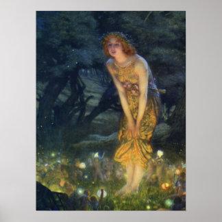 Impresión del arte del Pre-Raphaelite de Eve de pl Póster