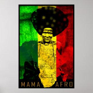 Impresión del arte del reggae del mapa de mamá Afr