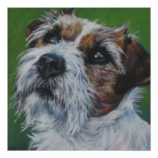 impresión del arte del terrier de Russell del ench Posters