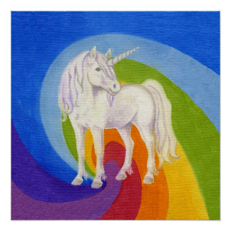 Impresión del arte del unicornio póster
