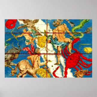 Impresión del arte del vintage de la mitología de  impresiones