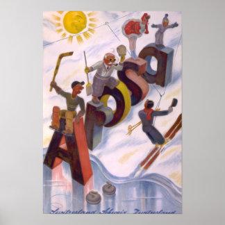Impresión del arte del vintage del viaje de Arosa, Póster