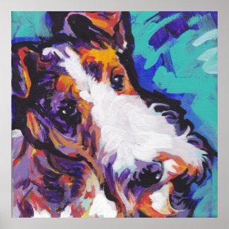 Impresión del arte pop del fox terrier del pelo de póster