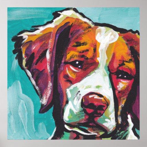 Impresión del arte pop del perro de aguas de Breta Póster