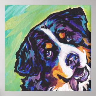 Impresión del arte pop del perro de montaña de Ber Póster