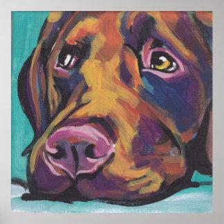 Impresión del arte pop del perro perdiguero de Lab Poster