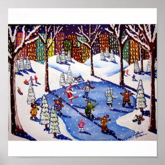 Impresión del arte popular del invierno de la dive posters