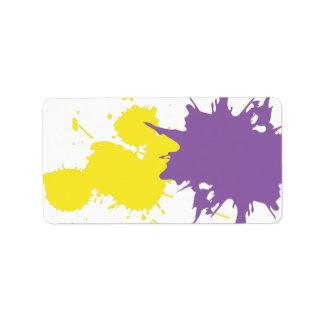 Impresión del artista de la pintada su propia etiq etiquetas de dirección