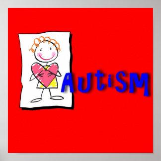 Impresión del autismo poster