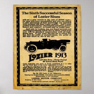 Impresión del automóvil de Lozier del vintage Poster