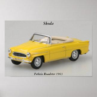 Impresión del automóvil descubierto 1963 de Skoda