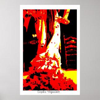 Impresión del bailarín del flamenco del arte pop póster