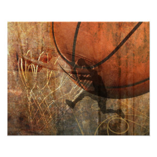 Impresión del baloncesto del Grunge Impresiones